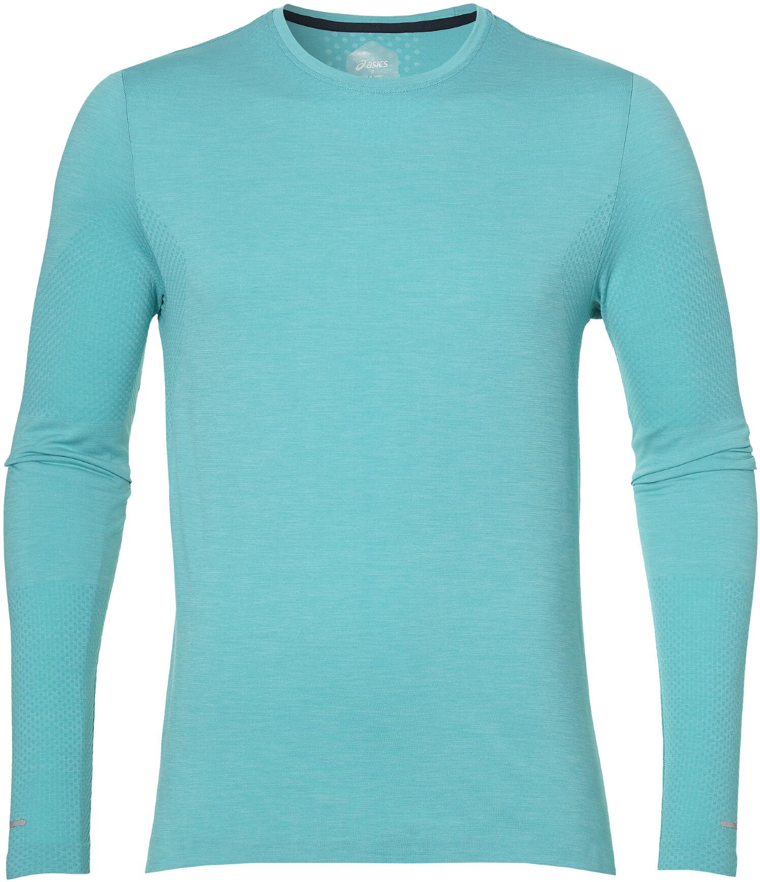 e48d792ad asics Seamless - Camiseta manga larga running Hombre - Turquesa ...